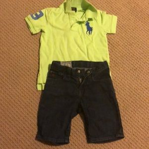 Ralph lauren polo and jean boy shorts size 5-6 yrs